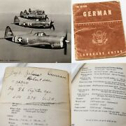 Wwii 86th Fighter Group Pilot Named Captain Robertson Carried German Book Relic