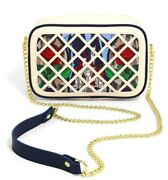 Loungefly Beauty And And The Beast Laser Cut Stained Glass Crossbody Bag Handbag