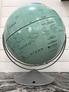 Vintage Nystrom Globe High Relief Large World Sculptural Map 34-37