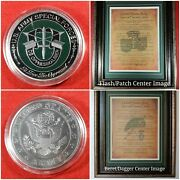 Mc-best Special Forces Coin And Personalized Sf Men Of The Green Beret Framed