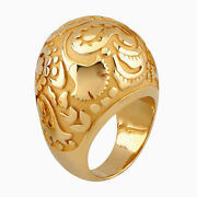 Fine Jewelry 18 Kt Hallmark Real Solid Yellow Gold Filigree Womenand039s Ring 6 7 8 9