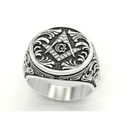14 Kt Solid White Gold Fine Jewelry Vintage G Antique Menand039s Ring Size 891011