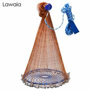 Lawaia Casting Net Brown Monofilament With Disc Easy Throw Catch Fishing Net