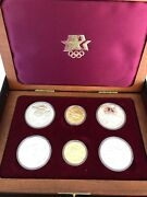 1983-1984 Olympic 6 Coin Set- 2- 10 Gold Coins - 4 Silver Dollars Proof And Bu