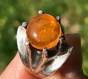 Sg Mermaid Mexican Fire Jelly Opal Ring In Sterling Silver Video--k5l4j