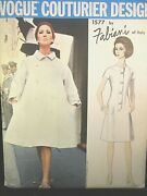 Vogue Couturier Design Pattern 1577 Fabiani Of Italy Size 14