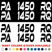 Custom Boat Registration Numbers Jet Ski Letters Decals Set Of 2 4 X 24 Xe