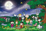 Epoch Jigsaw Puzzle 12-048s Peanuts Snoopy Under The Full Moon 1000 Pieces