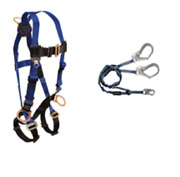 Falltech Safety Harness 7017 With 6ft Energy Absorbing Rebar Lanyard 8259y3 -1ea