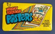 1973 Vintage Wacky Packages Posters Unopened Yellow Pack @@ Super Rare @@