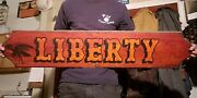 Wooden Boat/ship Name Board/sign Liberty Hand Done Lettering Antique Nautical