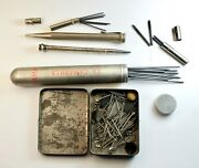 Rare Antique 2 Sterling Silver Pencil Pen With Different Sizes Of Leads