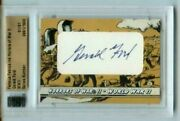 Gerald Ford 2013 Famous Fabrics Horrors Of War Auto/autograph 1/1 President