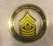 Mint Us Army Retired Csm Dean Kolker Awarded For Excellence Challenge Coin Token