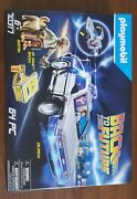 Playmobil 70317 Back To The Future Delorean Time Machine 64 Pc Set In Hand