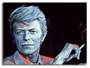 David Bowie 1983 - Canvas Art Print Stretched On Wooden Frame Ready-to-hang