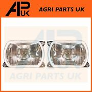 Pair Headlight Headlamp For Ford New Holland Td80 Td80d Plus Td85d Td90 Tractor
