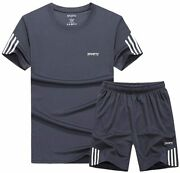 Lavnis Menand039s Casual Tracksuit T-shirts And Shorts Running Jogging Athletic Sport