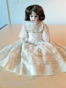 Antique German 15doll Bisque Head And Armsblue Sleep Eyes4 Layers Of Clothes