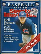 Sports Illustrated Magazine Kerry Wood 2004 Baseball Preview No Label Cubs 4798