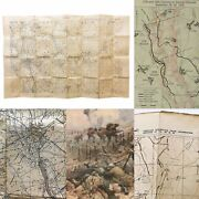 Wwi Battle St Quentin Canal 9/19/1918 German Emplacement And Trench Position Map