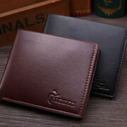 Hot Menand039s Billfold Pu Leather Short Wallet Id Credit Card Holder Purse Clutch