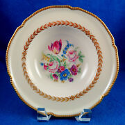 Castleton China And039bellwoodand039 Pattern 12 Rimmed Soup Bowl Set Excellent Condition