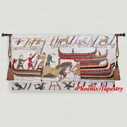 Bayeux Ii Tapestry Wall Hanging Jacquard Weave Large Gobelin 100 Cotton 55x31