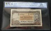 1961 Coombs Wilson Australia 10/- Shillings Star Note Pcgs Graded Choice Fine 15