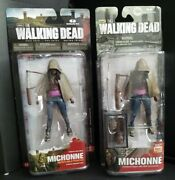 Walking Dead Tv Series 3 And Flashback Michonne Action Figure 2012 And 2014