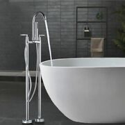 Free Standing Faucet Set Bathtub Sink Shower Water Nozzle Dual Handle Accessory