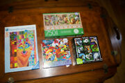 Lot Of 4 Assorted Animal Bird Themed Jigsaw Puzzles 500 - 750 Pieces Kids