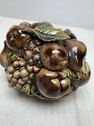 Moriage Style Mid Century Covered Ceramic Candy Dish Carmell Inarco
