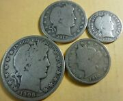 Estate Barber Liberty Collection U.s. Silver Coins Coin Set 90 Silver Type