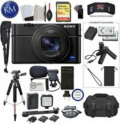 Sony Cyber-shot Dsc-rx100 Vii Digital Camera With Shooting Grip Kit And Video Bu