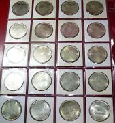 Egypt 20 Silver Coins 1984 Summer Olympics Los Angeles Km 558 Mintage 20000