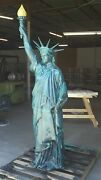Cast Aluminum Statue Of Liberty With Flame Globe, Usa More Available