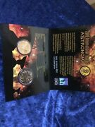 2009 International Year Of Astronomy 2-coin 1 And 20 Cent Piece Unc