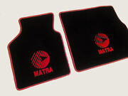 Floor Mats For Matra Murena Velours Black And Logo In Red 2-pieces