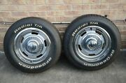 4 Used Rims And Tires Perfect Condition Front Is 15 By 8 Rear Is 15 By 10