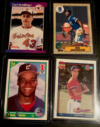 Mlb Legend Lot4rookies Chipper Jones Bo Jackson Frank Thomas And Curt Shilling