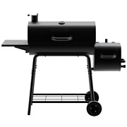 Nexgrill Barrel Charcoal Grill Smoker 29and039and039 Steel Wire Cooking Grids Outdoor