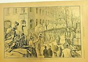 New York Freight Handlers Strike Teamsters Labor Movement 1882 Antique Print