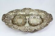 Reed And Barton Sterling Silver Francis I Large 12 Serving Tray And 2 Small 4