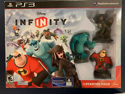 Ps3 Disney Infinity Starter Pack Mr. Incredible Sulley Capt Jack Sparrow