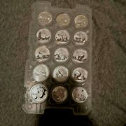 Silver Panda Set Of 15 Coins Pad Year 2006-2020 Lot 15 15 Pieces