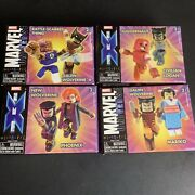 Marvel Minimates Wolverine Lot Of 4 Boxes 8 Figures Total
