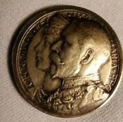 George V And Mary Empire Coronation 1911 Silver 925 Medaillen