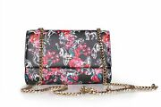 Cavalli Class Night Garden Womens Small Shoulder Bag Floral Black New And Tags