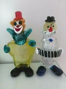 Two Murano Glass Clowns, Sold Together